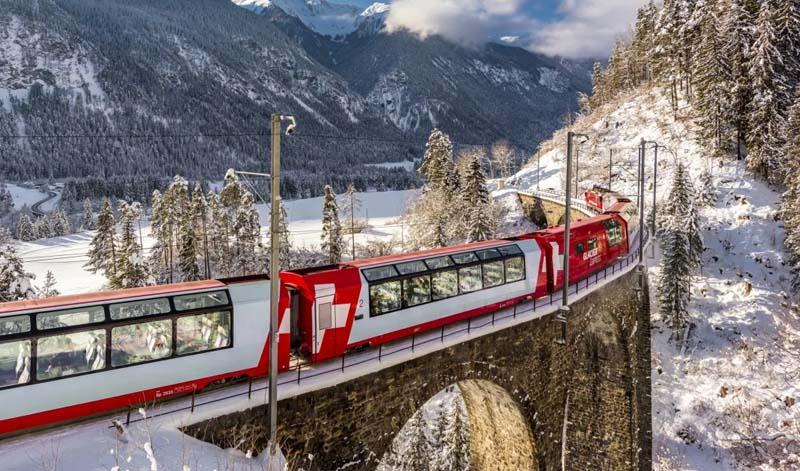 Lindas paisagens do Glacier Express