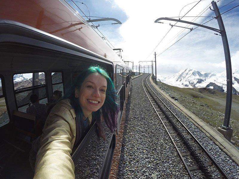 trem para gornergrat visitar zermatt no verão