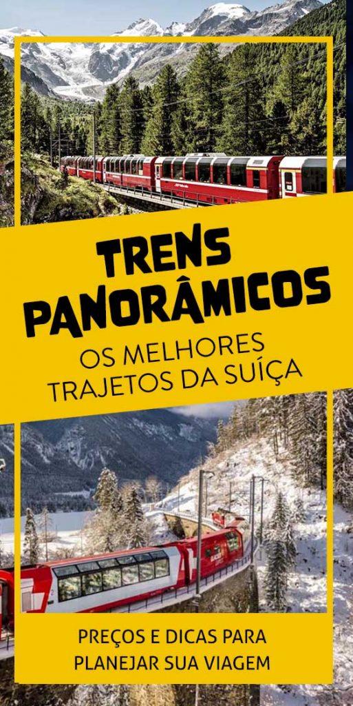 Pin Trens Panorâmicos na Suíça