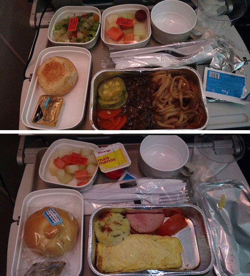 voar com air china espanha comida