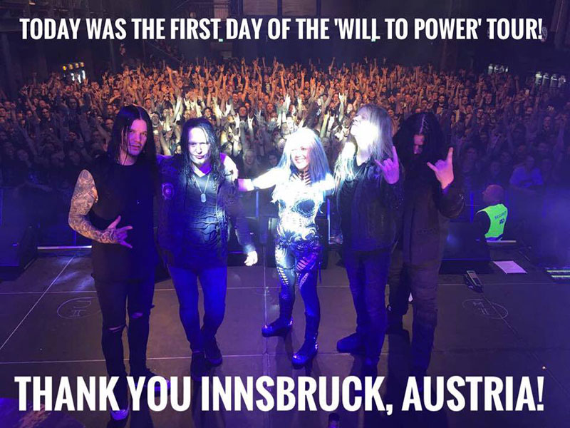 abertura tour will to power arch enemy innsbruck