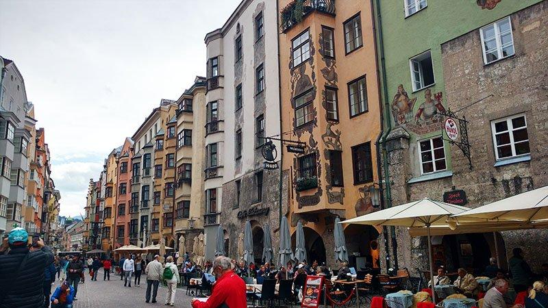 centro antigo de innsbruck altstadt