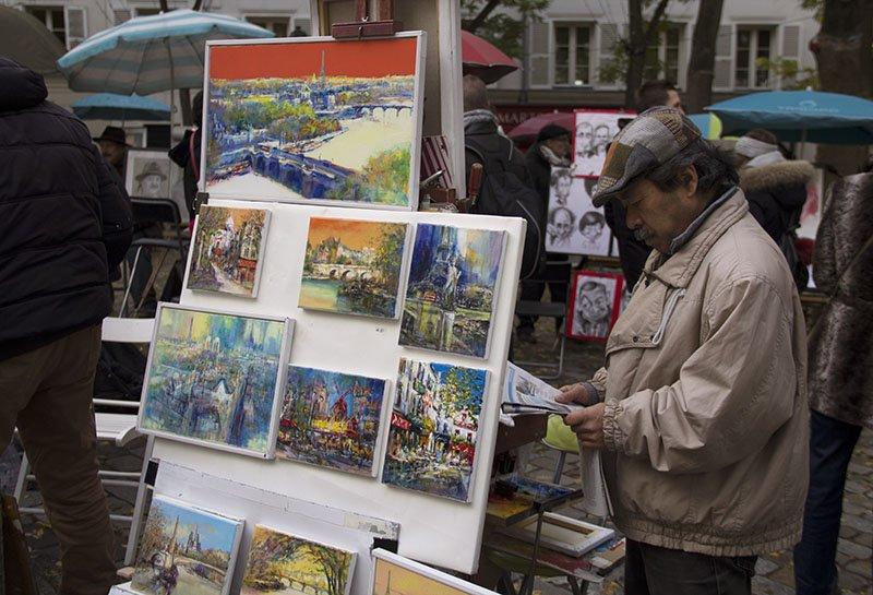 artistas em paris centro montemartre