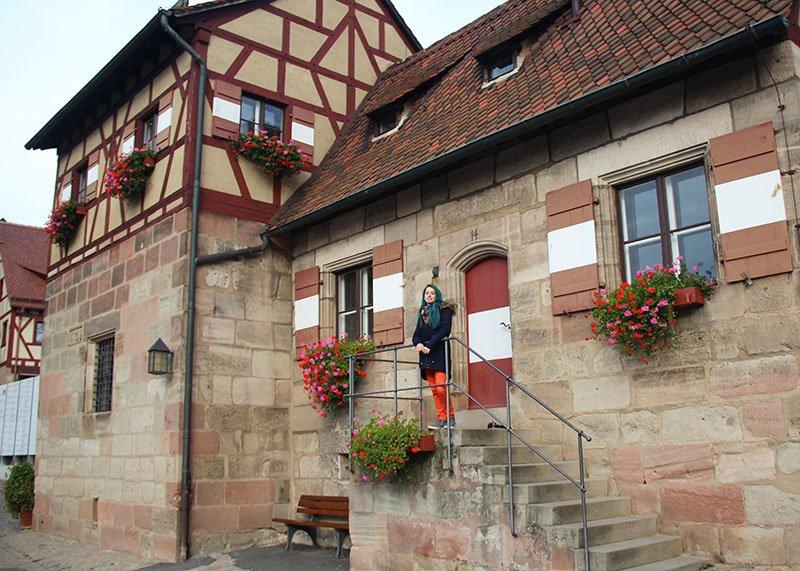 casa antiga dentro do castelo de nuremberg alemanha