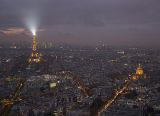 paris a noite vista panoramica