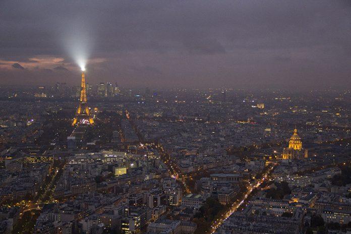 paris a noite vista panoramica