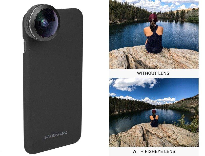 selfie de viagem celular lente