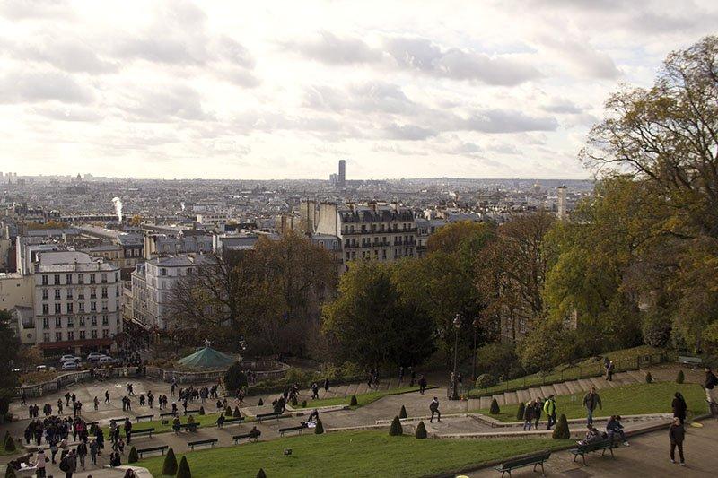 vista da catedral de sacre couer montmartre