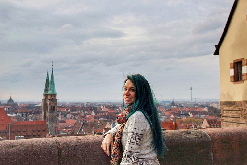 vista do castelo de nuremberg alemanha