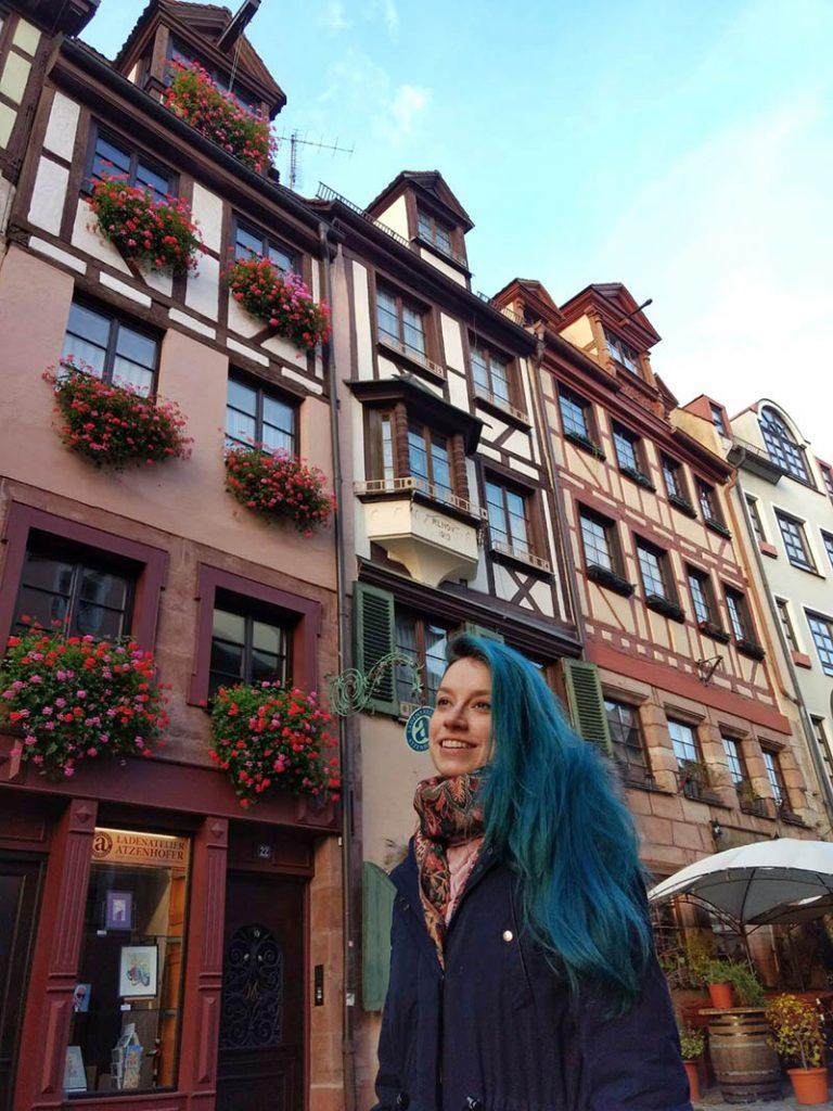 weissgerbergasse nuremberg rua com casas em enxaimel antigas