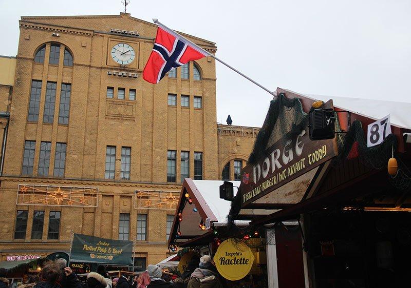 barraca noruega bebida feira de natal