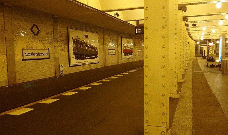 estacao de metro em berlim klosterstrasse