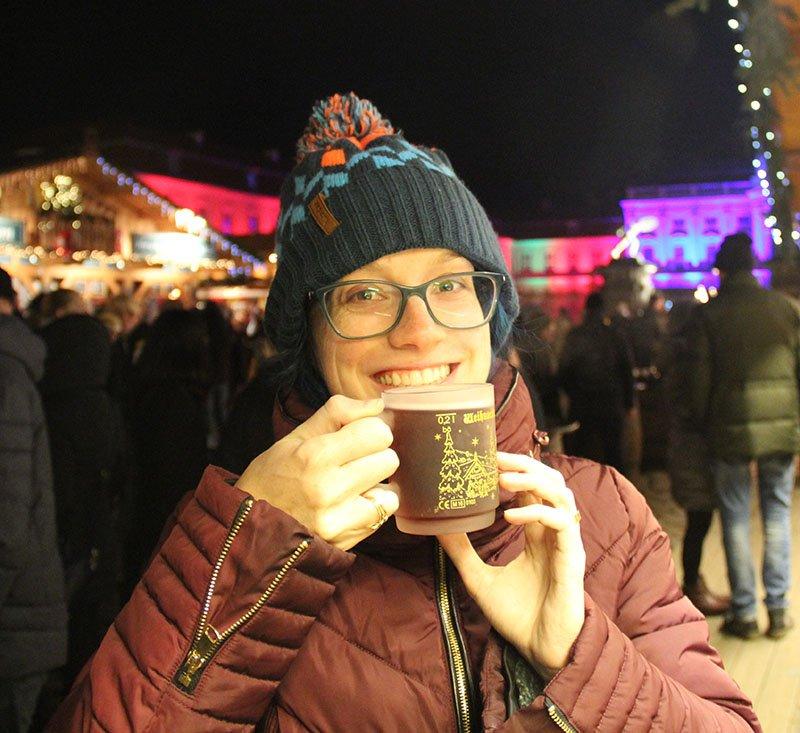 gluhwein feira de natal em berlim