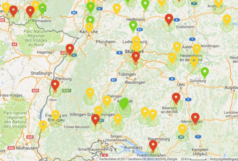mapa para voar com drone no fly zone