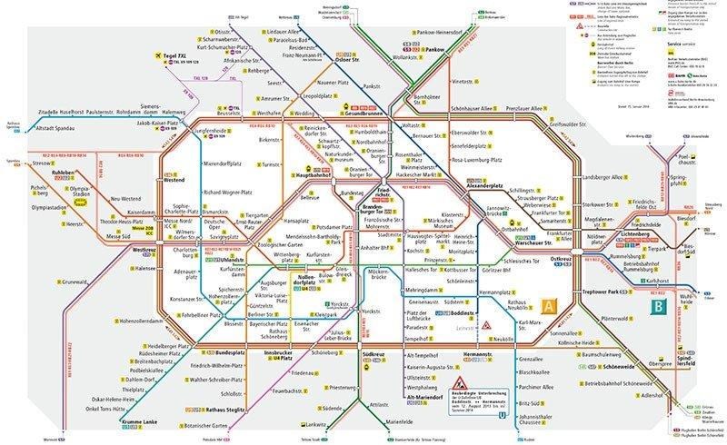 mapa transporte publico berlim