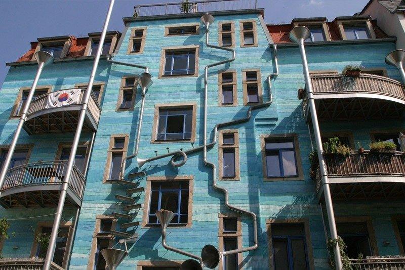 Kunsthofpassage predio azul