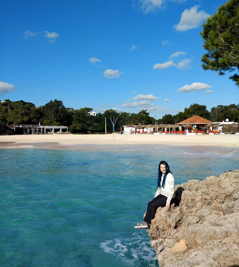 cala mandrago praia piscina azul roteiro