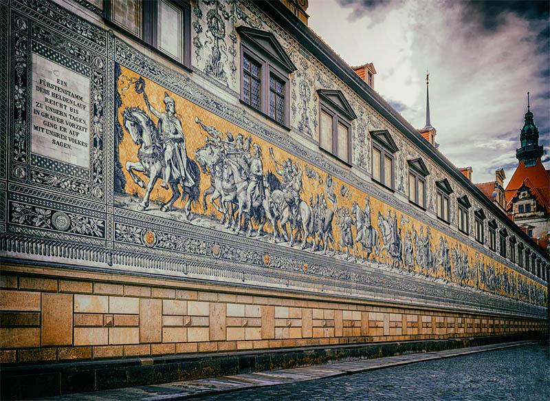 maior mural de azulejos do mundo dresden