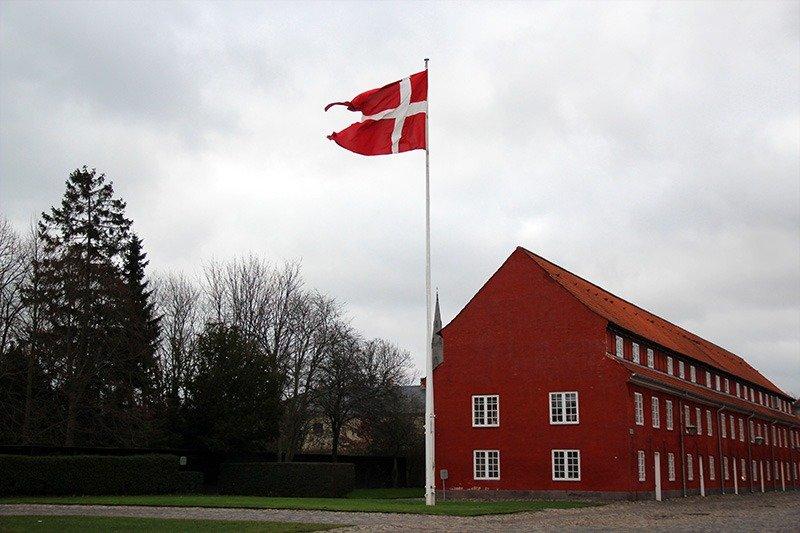 bandeira da dinamarca kastellet