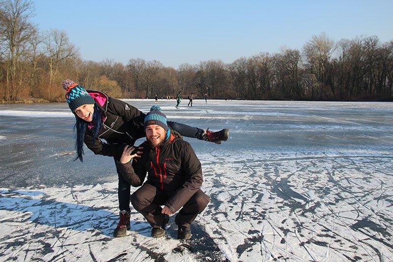 andar no lago congelado berlim