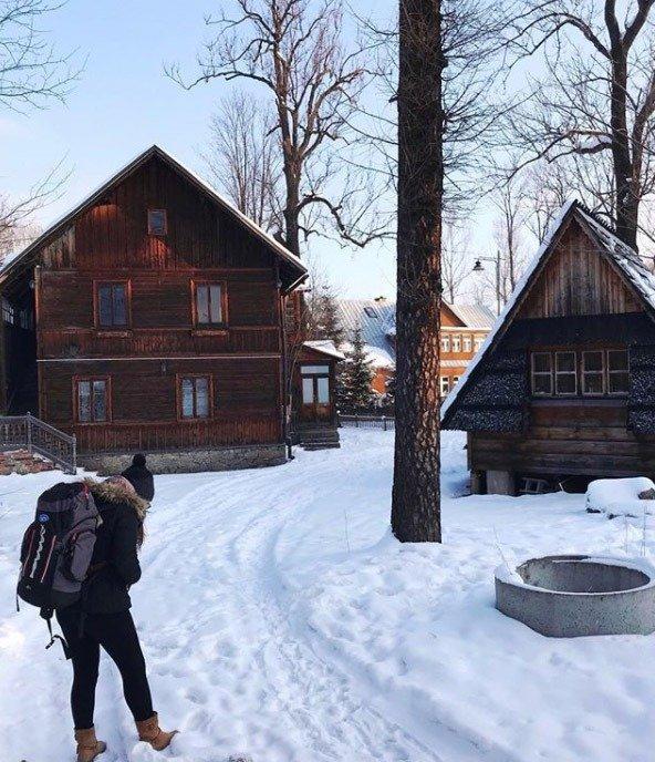 cabanas na neve floresta zakopane neve