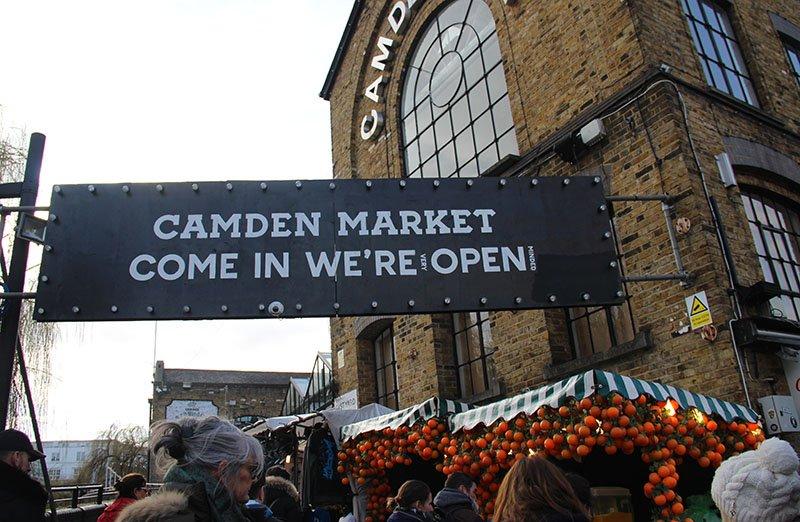 camden lock entrada do mercado em londres