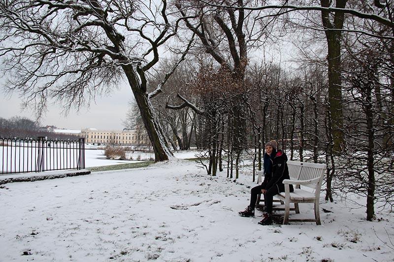 parque neve alemanha lago congelado berlim na neve