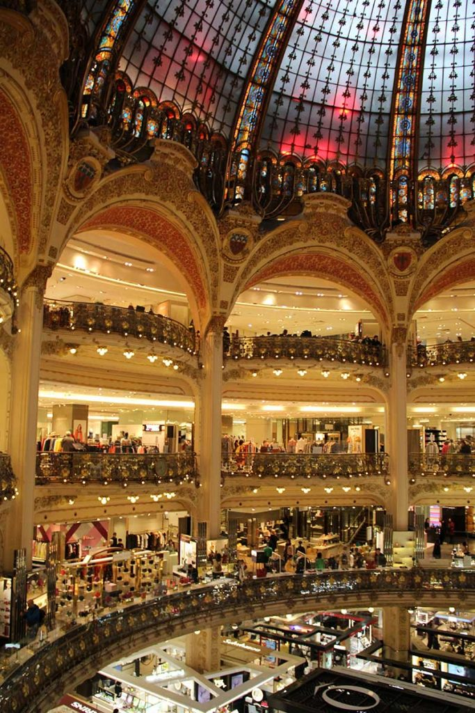 andares Galeries Lafayette compras em paris