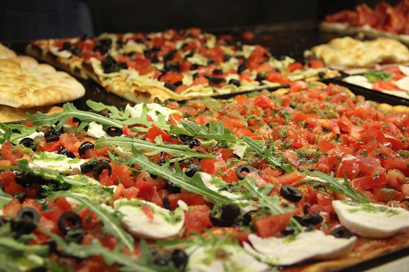 comida em roma gastos pizza