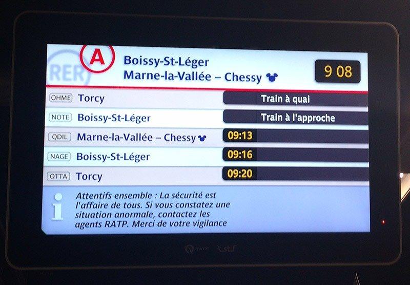 como chegar na disneyland paris trem
