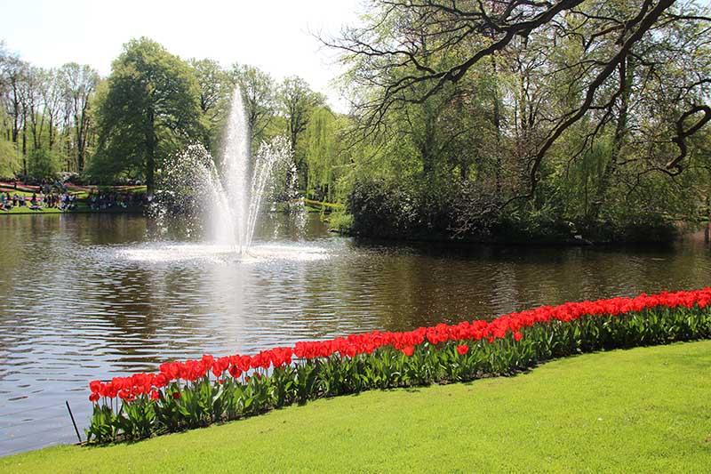 fonte parque de tulipas keukenhof