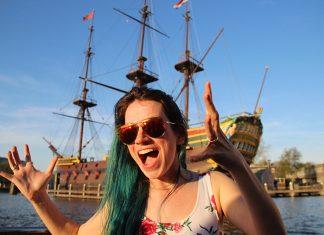 navio pirata amsterdam holanda passeio cruzeiro canais