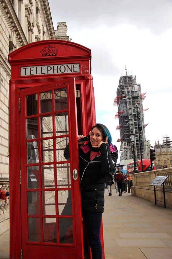 cabine telefonica big ben londres