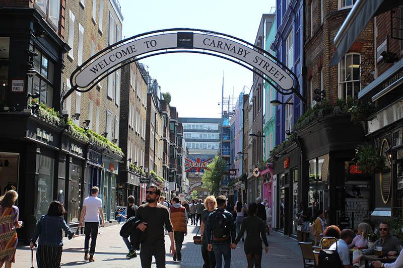 carnaby street ruas para compras em londres