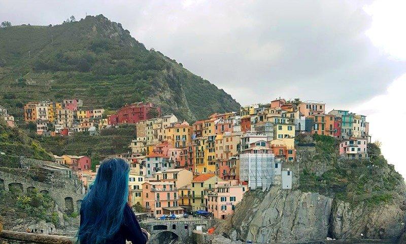 vista manarola cinque terre italia