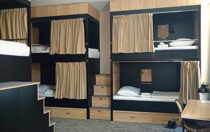 Hostel em Zadar onde fiquei hospedada