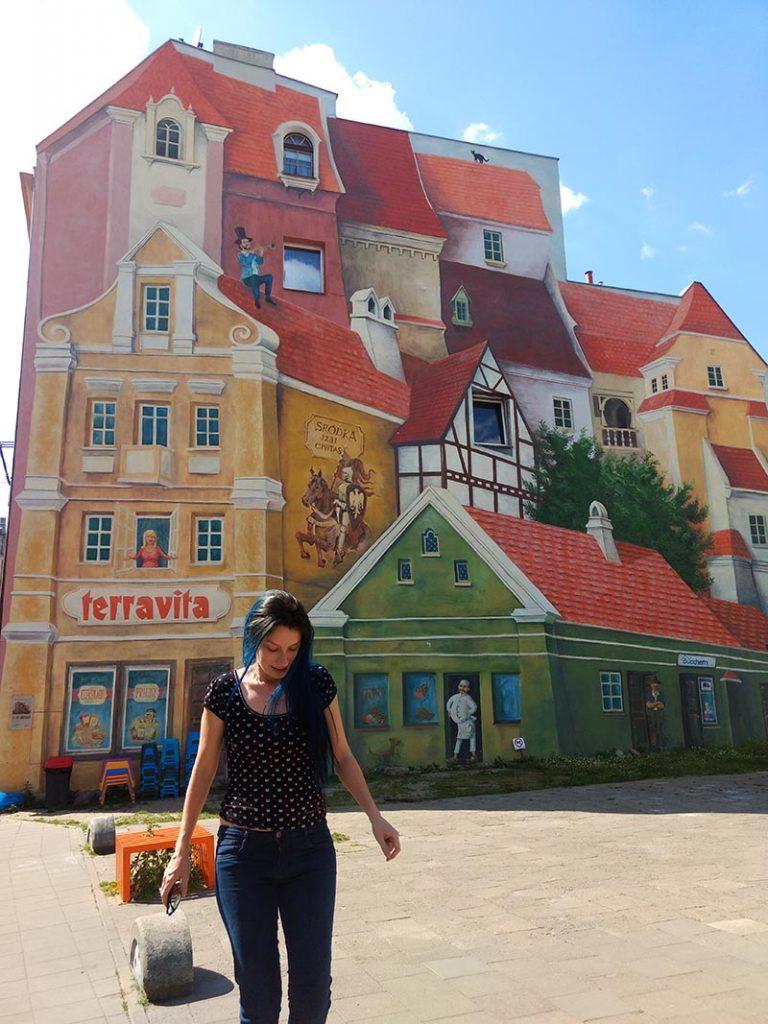 mural 3d poznan polonia