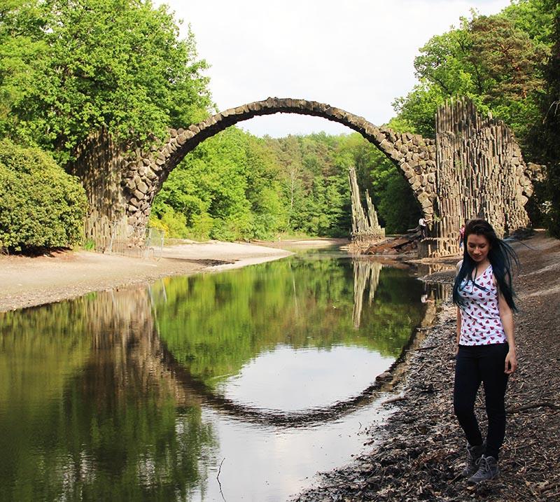 parque kromlau ponte do diabo alemanha rakotzbrücke