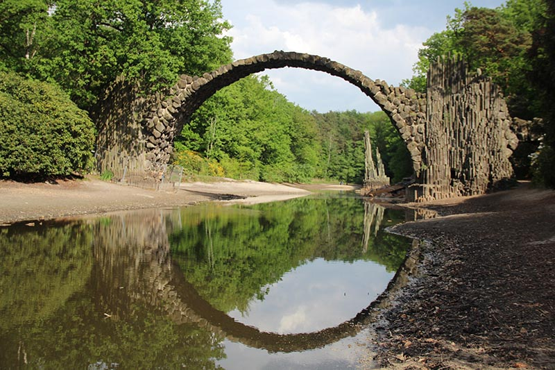 ponte ciculo perfeito alemanha rakotzbrucke