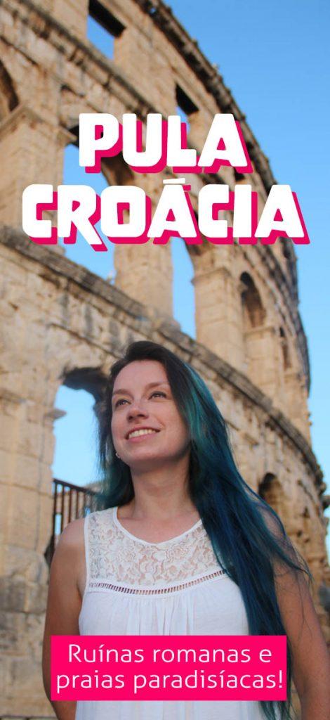Viagem na Croacia, Pula na Istria, ruinas romanas e praias azuis