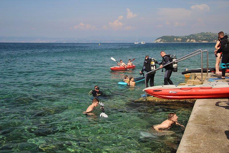 atividades na agua mergulho kayak piran