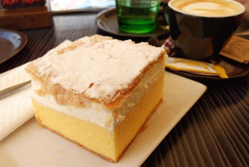 bolo tradicional da eslovenia creme kremsnita