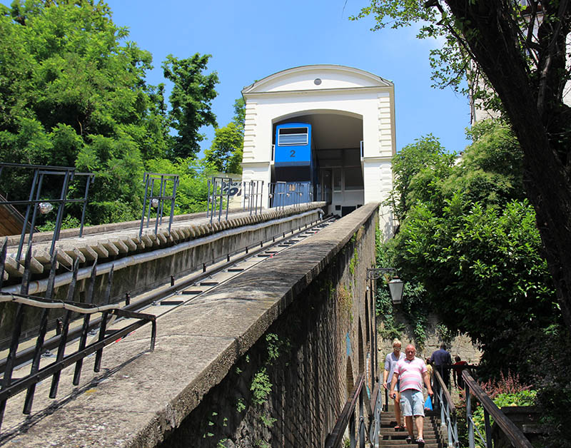 funicular em zagreb croacia