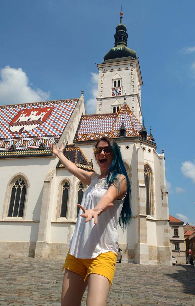 igreja telhado colorido croacia sagreb