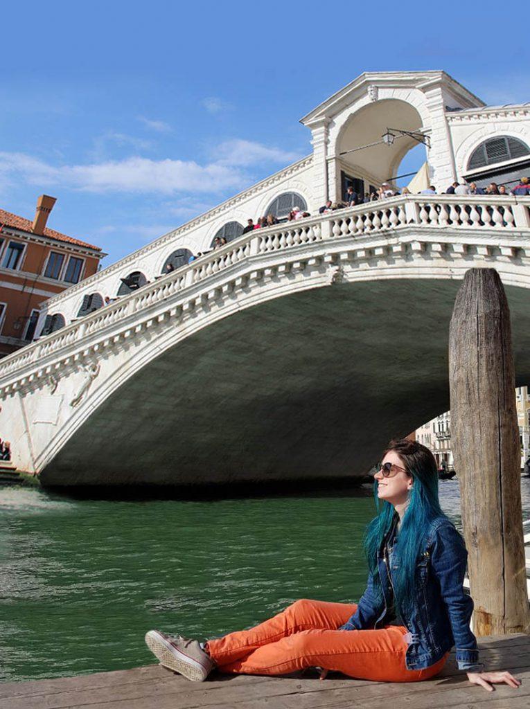 ponte rialto no sol veneza