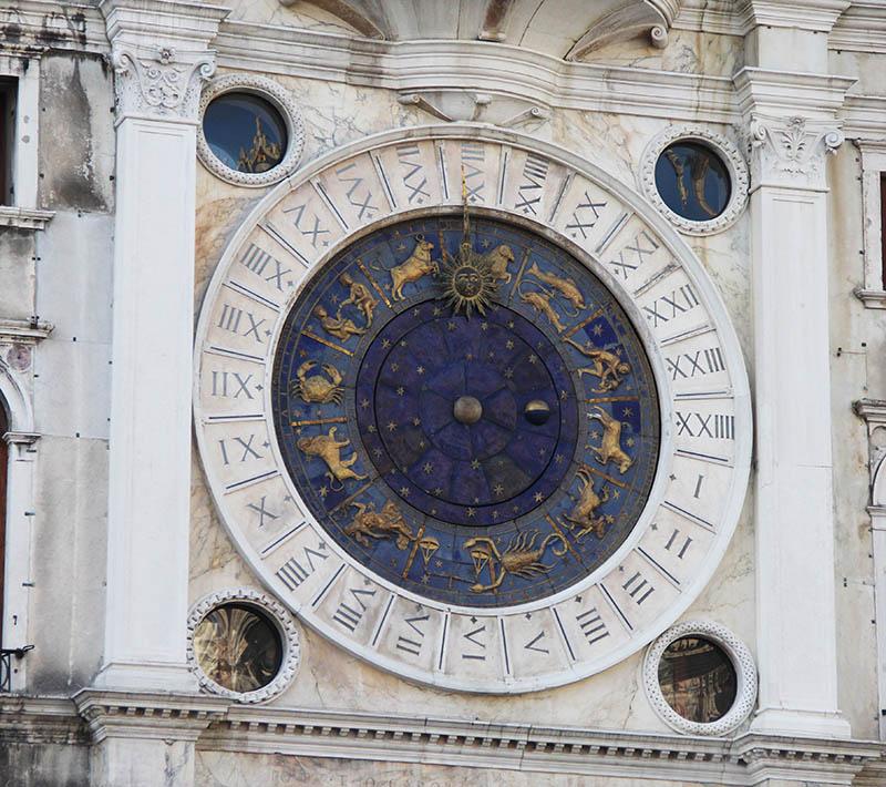 signos do zodiaco torre do relogio em veneza