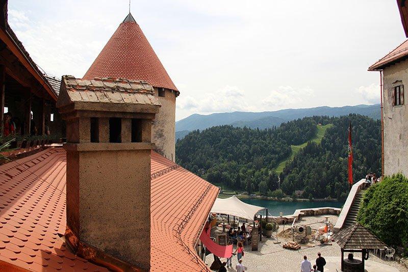 vista castelo de bled patio