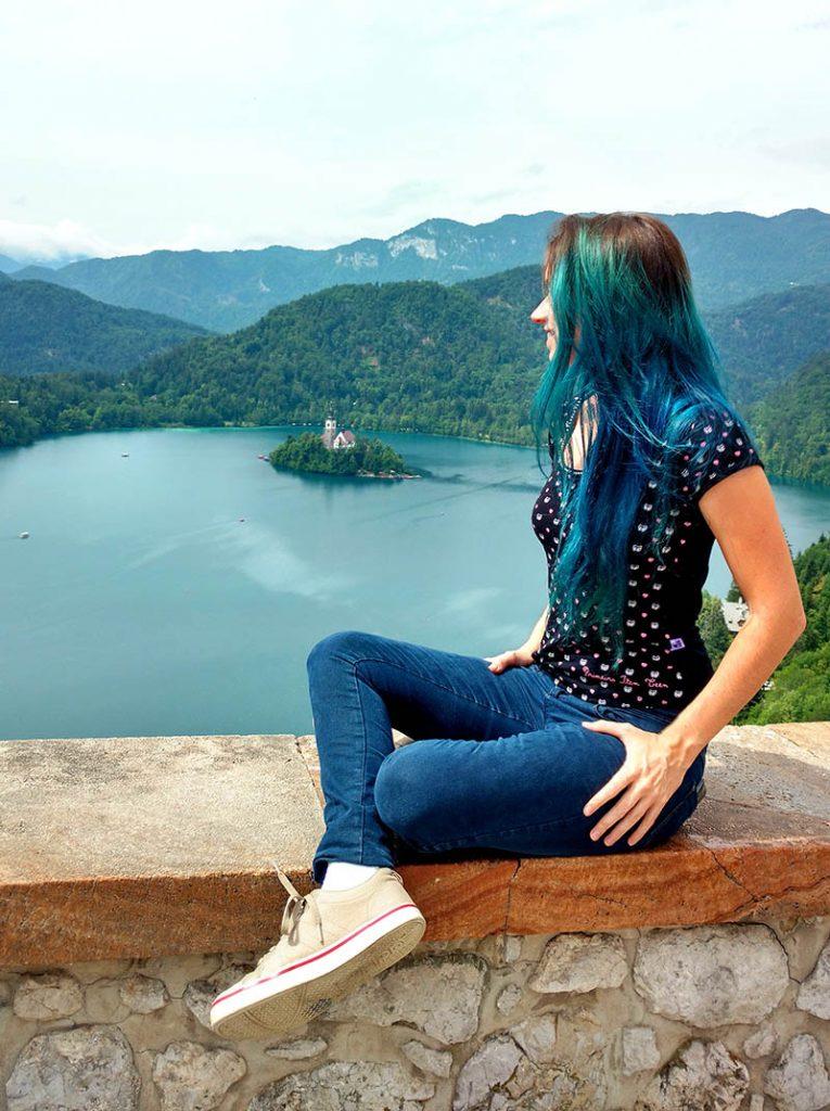 vista do castelo de bled ilha eslovenia