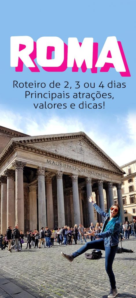 guia turístico Roma, dicas e o que fazer em roma