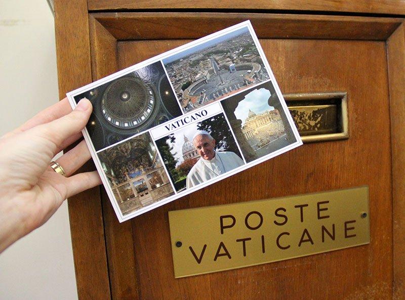 como enviar cartao postal do vaticano